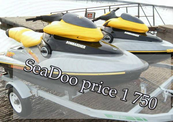Photo double trailer fun to drive 2 seaters xp jet skis