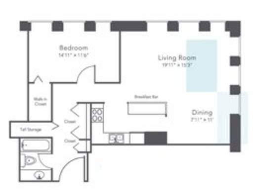 Photo Affordable Luxury Streeterville 1 Bed 3 mo FREE Gym in building (Streeterville  Navy Pier  NW  Lurie Hospitals)