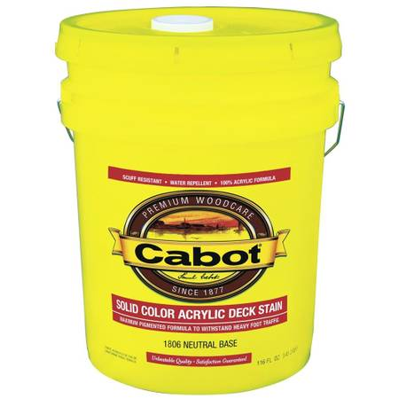 Photo CABOT - Solid Color Acrylic Deck Stain Exterior (Evergreen - 5 Gal) - $120 (NW Suburbs)