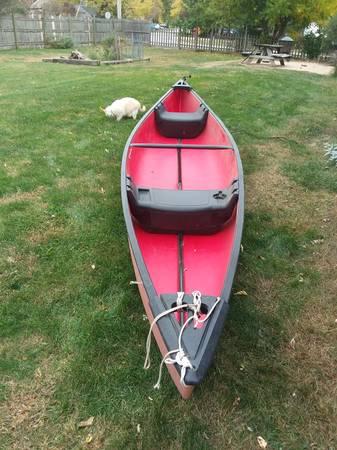 Photo Canoe 15 ft Coleman, Indian type - REDUCED - $595 (minookachannahon IL)