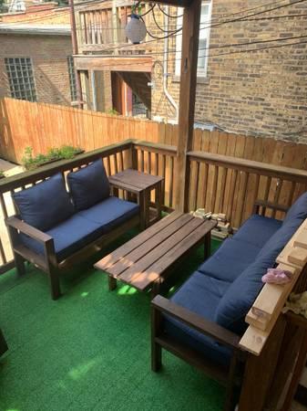 Photo Custom Wooden Outdoor Patio Furniture - $200 (Chicago)