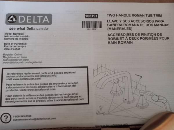Photo Delta 2 Handle Roman Tub Trim - $50 (La Salle, IL)