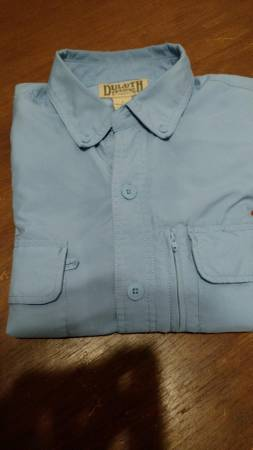 Photo Duluth Trading Vented Men39s Long Sleeve Outdoor Shirt Large Light Blue - $20 (South Elgin)