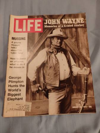 Photo LIFE magazine--John Wayne - $10 (Peru, Illinois)