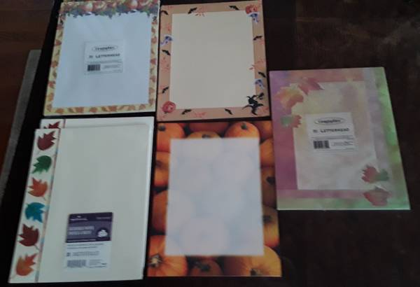 Photo letterhead, fall Decor over 180 sheets total for $3 - $3 (Beverly  Morgan Park Chicago)