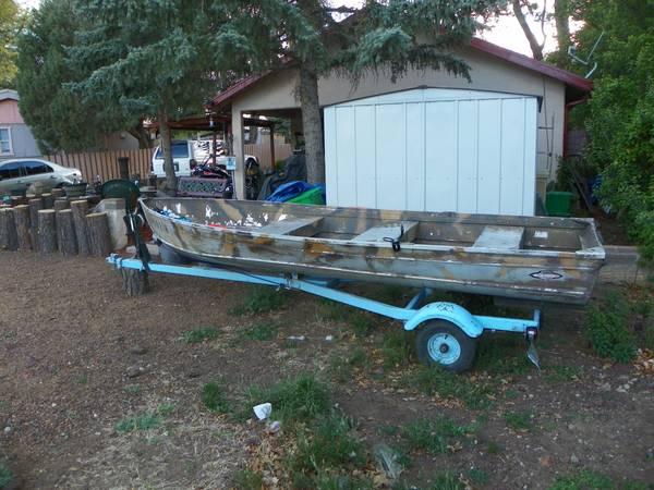 Photo 14 ft aluminum boat - $1,200 (lakeside)