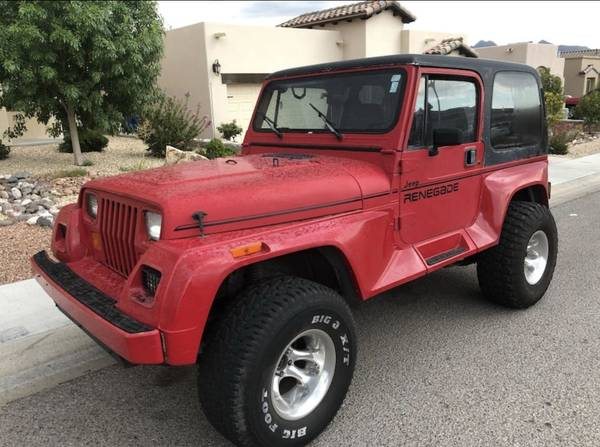 Photo 1991 Jeep Wrangler Renegade 4x4 4.0 liter H.O. 6-cylinder - $5600 (Sonoma Ranch)