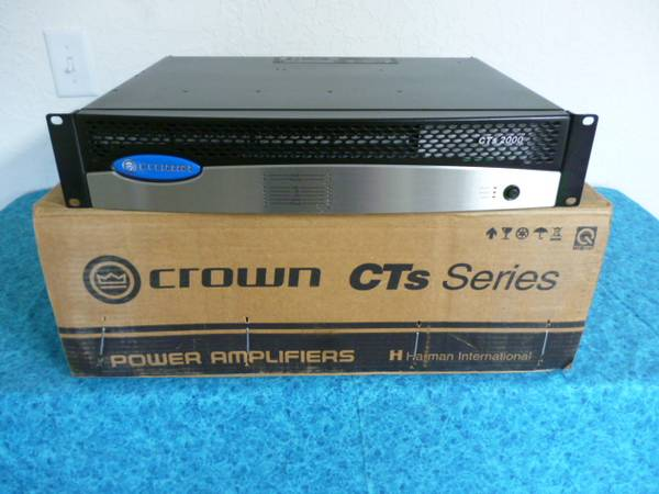Photo Crown CTS 2000 2 channel Power Amp, - $225 (Silver city)