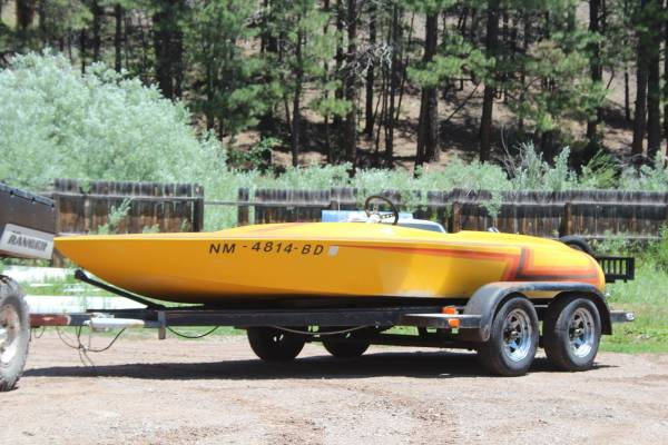 Photo Vintage V-Drive Flat Bottom Racing Boat Takes Big Block Chevy - $1,800 (Jemez Springs)