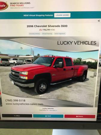 Photo Wanted 2007 Chevy 3500 Crew Cab, 4wd, Allison 1000, LBZ Engine - $1 (Mesilla Park, NM)