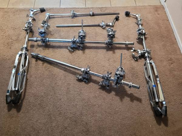 Photo yamaha quotsuper rackquot drum rack parts - $525 (Las Cruces)