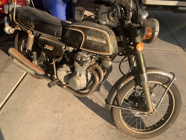 Photo 1973 Honda CB 350 Four Barnfind Vintage Motorcycle 4 cylinder - 1 own - $3,000 (Boulder City)
