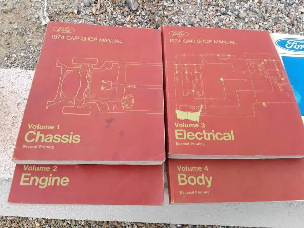 Photo 1974 Ford Ranchero Shop Manuals - $50 (Lake Havasu City)