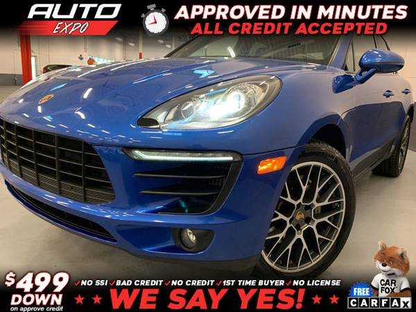 Photo 2015 Porsche Macan S AWD 4dr SUV (- as low as $499 Down oac Bad Credit OK)