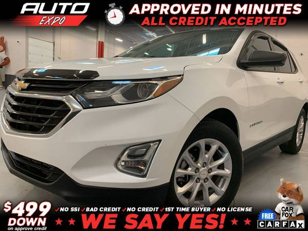 Photo 2018 Chevrolet Chevy Equinox LS 4dr SUV w1LS (- as low as $499 Down oac Bad Credit OK)