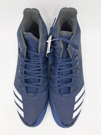 Photo Adidas Mens Icon Bounce Mid Navy Baseball Cleats Size 13 NEW - $20 (Las Vegas)