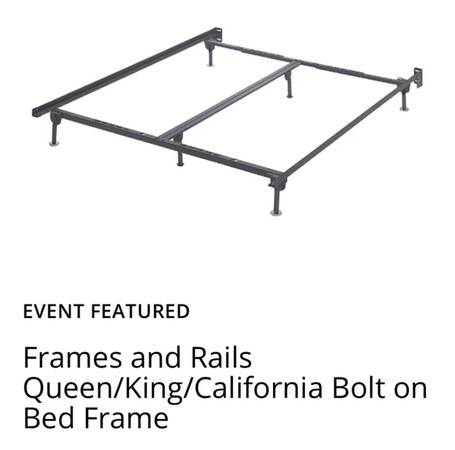 Photo BRAND NEW 1 week new Queen box spring and bed frame rails - $150 (Las Vegas)