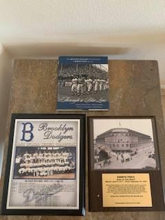 Photo BROOKLYN DODGER Plaques (2) and Book - $75 (Boulder City)