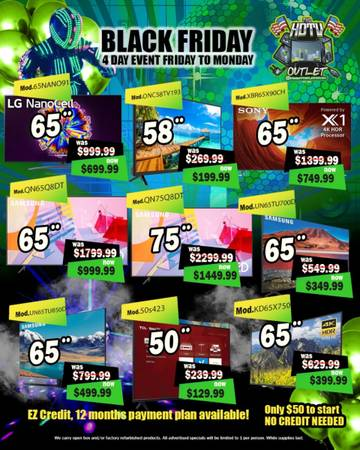 Photo Black Friday Samsung smart Sony tcl vizio lg 4K tv (Las Vegas)