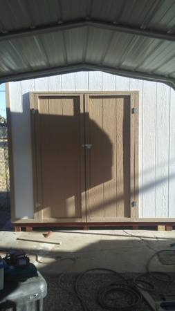 Photo CUSTOM BUILT STORAGE SHEDS  GARAGE CABINET INSTALLATION