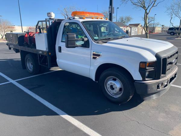 Photo F350 Super Duty flatbed Service truck, 6.4 Diesel Dully has tommy lift - $19822 (las vegas)