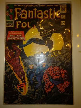 Photo Fantastic Four Black Panther Comic book - $5714