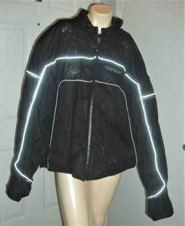 Photo Fly Racing Motorcycle Jacket, heavy black mesh with armor - Mens Size - $75 (NW part of town, Ann Rd and Jones)