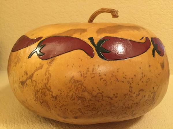 Photo Hand Painted Chili Pepper Tortilla Warmer Gourd - $20 (Las Vegas Blvd.  Silverado Ranch Blvd.)