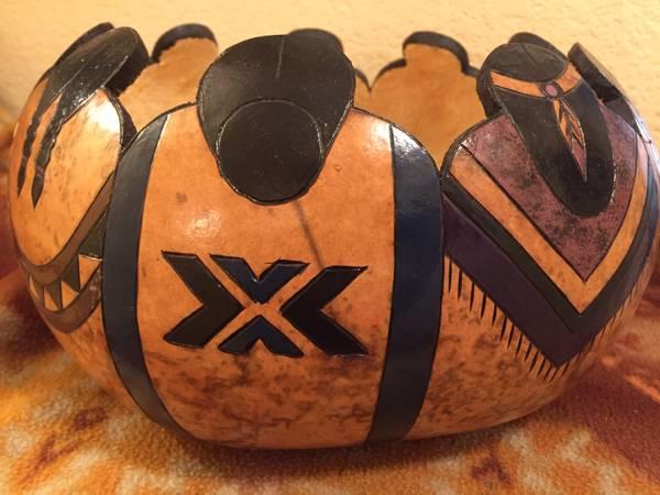 Photo Hand Painted Native American Gourd - $20 (Las Vegas Blvd.  Silverado Ranch Blvd.)