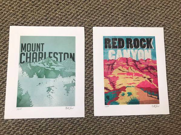 Photo Local Art Prints Red Rock canyon and Mount Charleston - $75