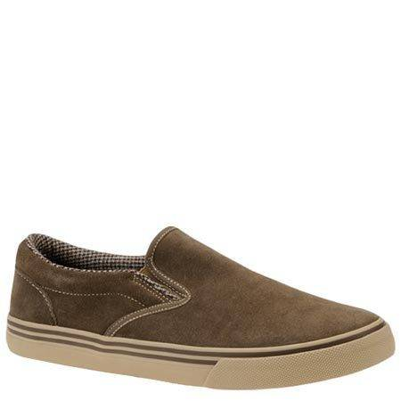 Photo Mens SHOES, casual slip-on, brown leather suede, size 11, NEW in a box - $23 (washington95)