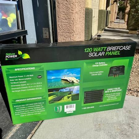 Photo Nature Power 120 watt Folding Solar Panel Briefcase for RV Battery - $250 (Texas Station Casino)
