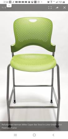Photo New 2 Herman Miller Lime BarStools made USA - $129 (Las Vegas)