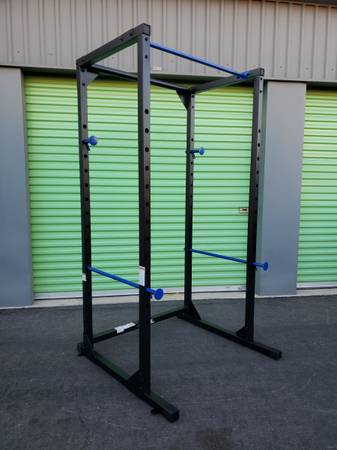 Photo Power Cage Squat Rack Fitness Gym Exercise Workout New And Fully Assembled FREE - $399 (North Las Vegas)
