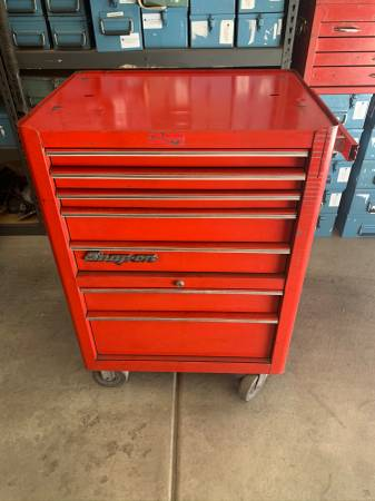 Photo SNAP ON TOOL BOX TOOL CHEST CABINET KRA-380C. 7 DRAWER SNAPON TOOLBOX. (LAS VEGAS BLVDSERENE AVE)