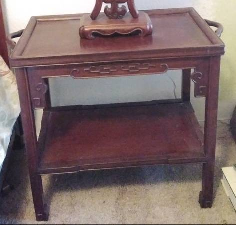 Photo Vintage Chinese Rosewood Butler39s Tray Table Side Table Asian Oriental - $450 (Las Vegas)