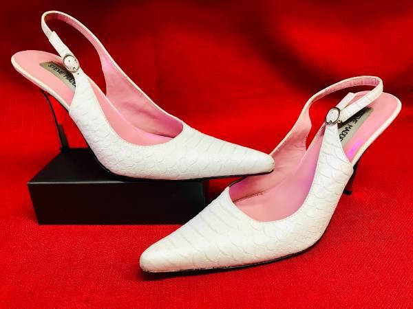 Photo White Madden Girl Womens High Heel Stiletto Platforms Shoes 8 12 B - $25