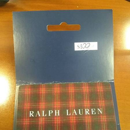 Photo $100 Ralph Lauren gift card (OBO) - $85 (Lawrence)