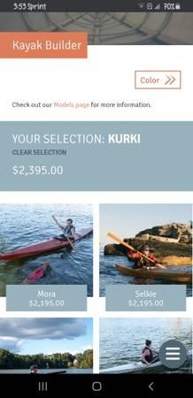 Photo 17 foot used Kurki Seawolf kayak - $900 (Overland Park)
