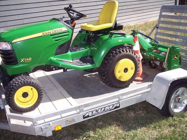 Photo GardenLawn Tilling with John Deere Garden Tractor - $80 (LAWRENCE)