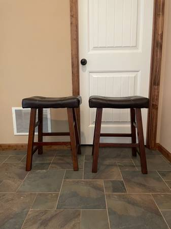 Photo Two bar stools. - $35 (Lawrence)