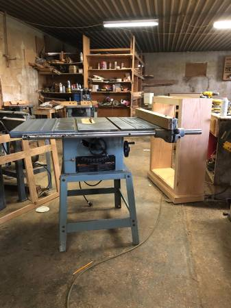 Photo 10quot Delta Contractor39s Table Saw with 1 12-2 HP - $500 (Cyril)