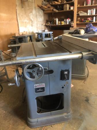 Photo 10quot Delta Contractor39s Table Saw with 1 12-2 HP - $425 (Cyril)