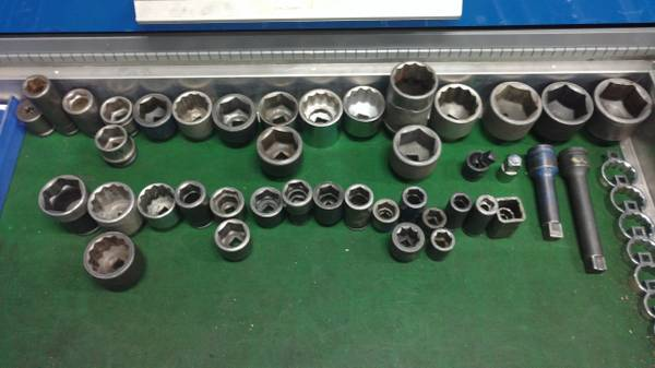 Photo 34quot  1quot drive sockets Snap-On Proto Williams Wright Armstrong - $15 (Flower Mound, TX)