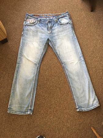Photo Mens Rock Revival Jeans - $25 (Marlow)