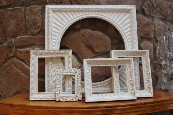 Photo Custom Painted And Distressed Frames in Antique White  More (mckinney)