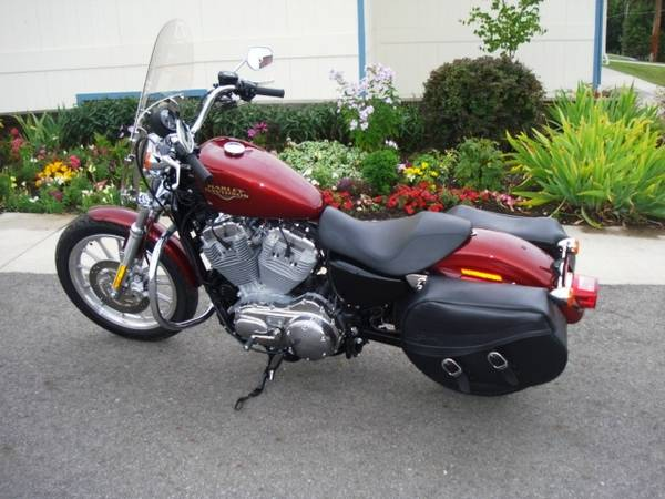 Photo 2009 Harley Davidson Sportster, Red Hot Sunglo and only 20 miles - $6,795 (SPOKANE VLY)