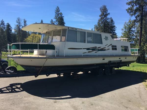 Photo All aluminum houseboat for sale - $38,000 (Sandpoint, ID)