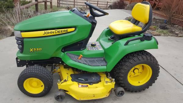 Photo John Deere X530 Multi Terrain Riding Lawn Mower - $4500 (Grangeville, ID)