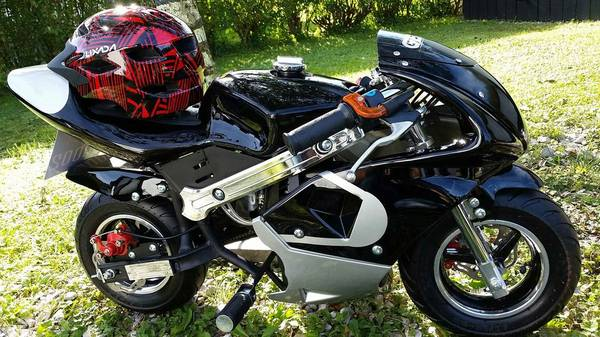 Photo Motorcycle 2020 Ninja Pitbike Gas engine with Helmet and More NEW - $550 (West Liberty Ky)